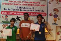 CBSE Cluster IX  T.T Championship